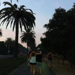 walking to Palo Alto w/ friends!!!